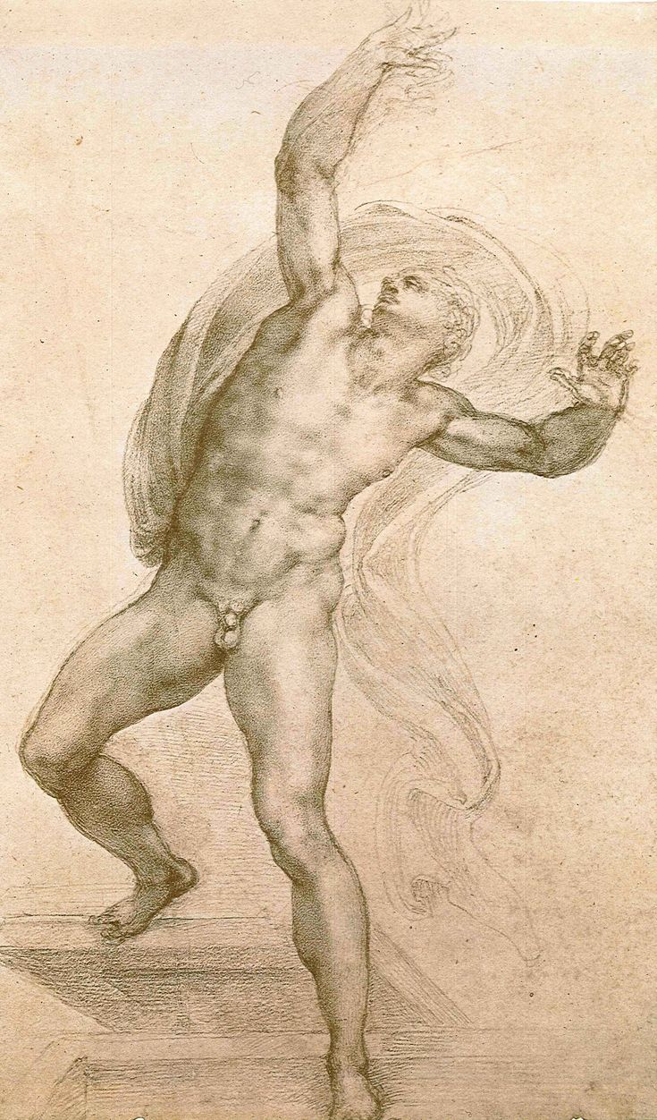 Michelangelo Buonarroti the-risen-christ-ca-1532