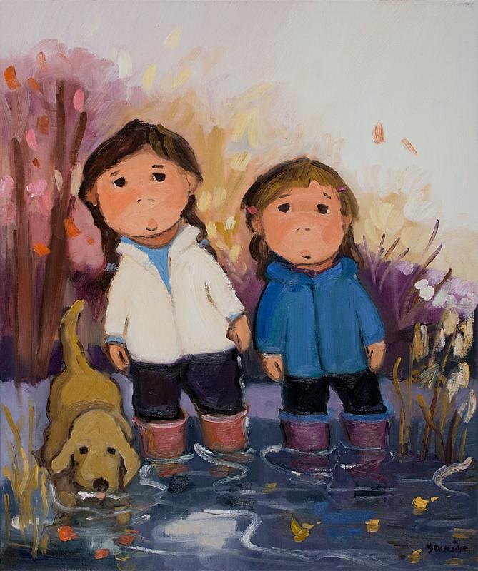 Guylène Saucier  Les pieds dans le lac