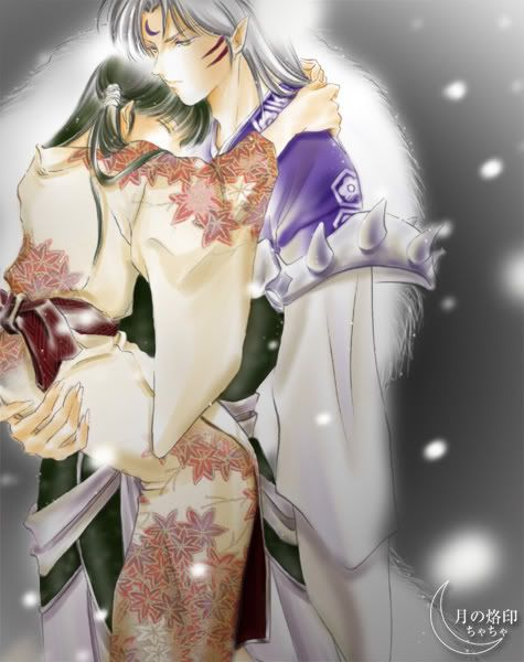 Sesshomaru and Rin~Snow