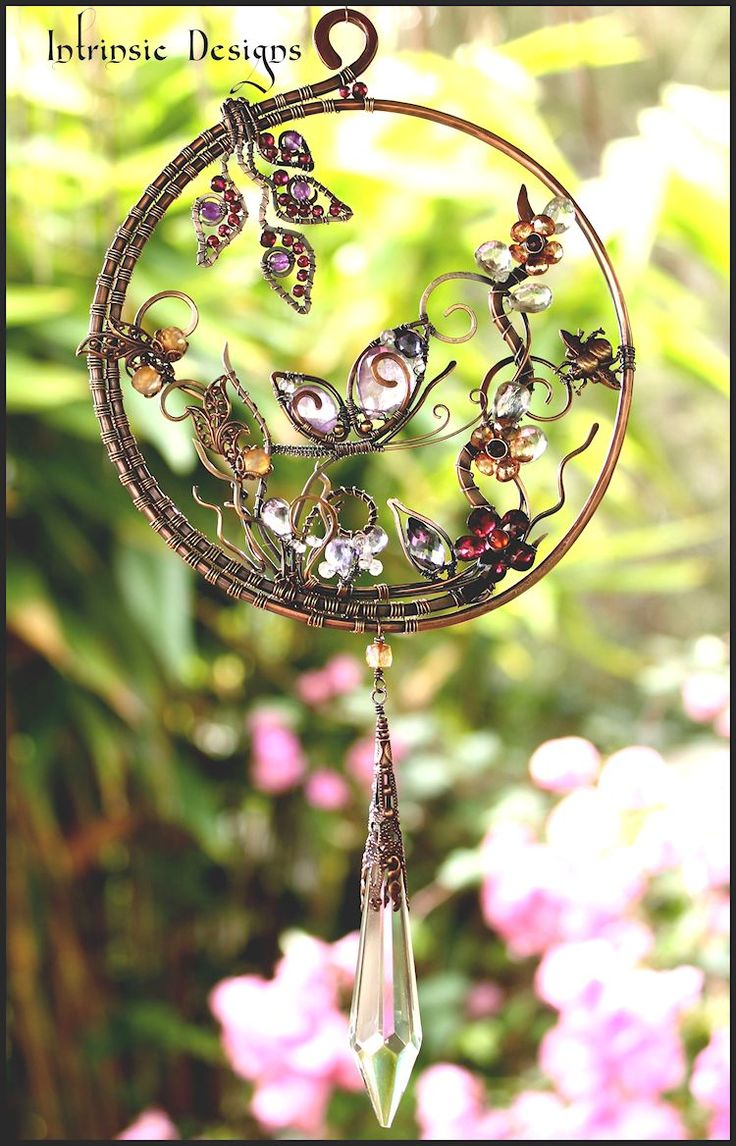 Butterfly gemstone suncatcher by me..Cathy Heery from Intrinsic Designs