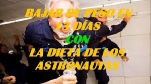 Resultado de imagen para dieta de los astronautas
