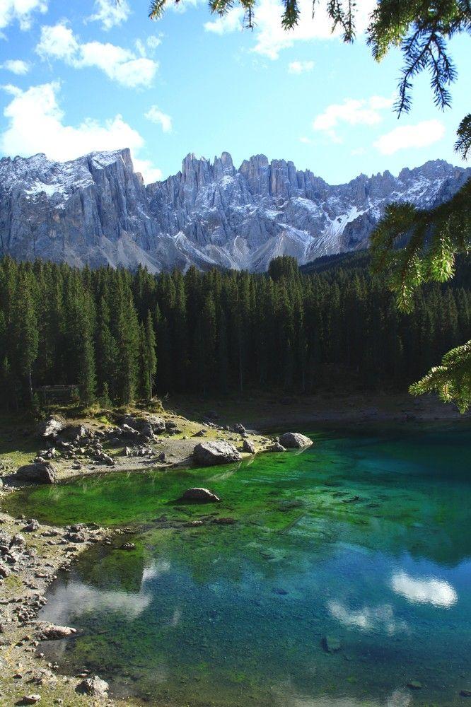 Lake Carezza, Dolomites, Italy