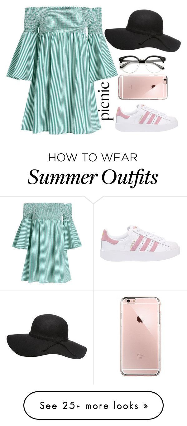 Summer Outfits : picnic outfit by ines-lynch on Polyvore featuring adidas Originals