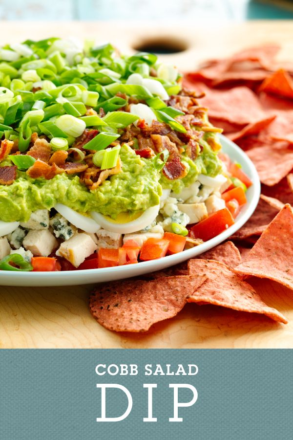 Cobb Salad Dip is a fun twist on the classic cobb salad. This dip ...