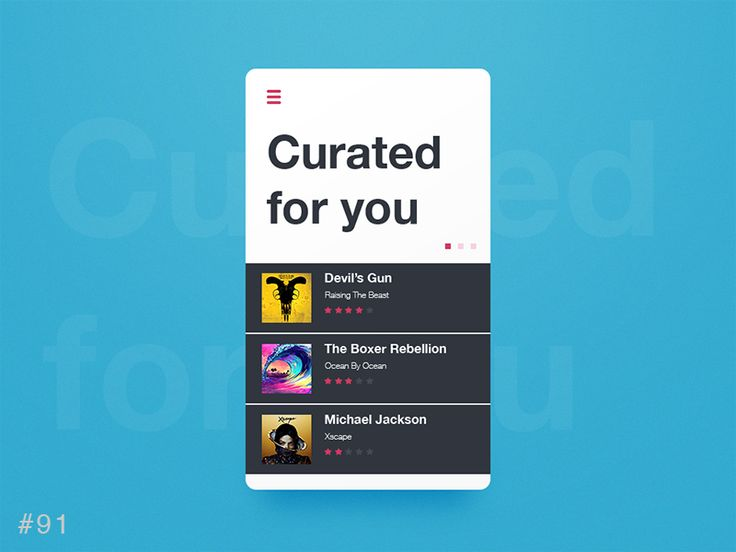 DailyUI design - Curated for You