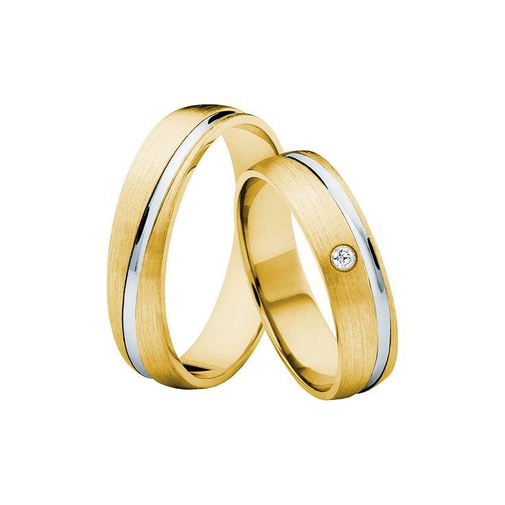 SAVICKI - Obrączki ślubne: Obrączki z dwukolorowego złota (662/ZB/5/MR/L/1x0,02) - Biżuteria od 1976 r.