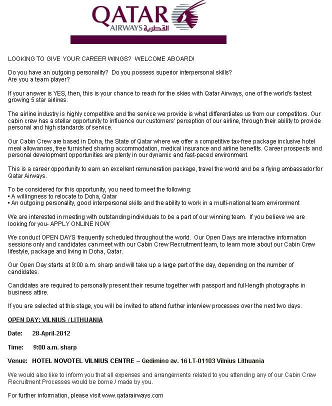 Cover Letter Example For Emirates Cabin Crew Templates