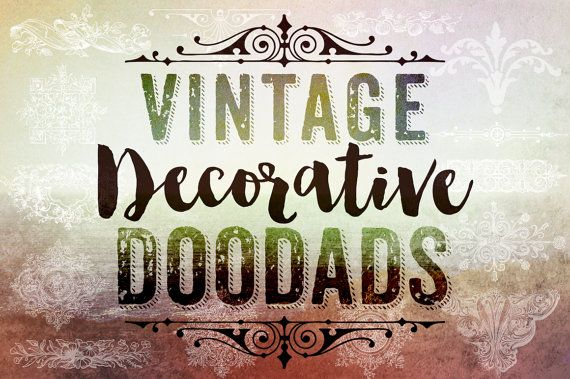 These Vintage Photoshop Decorative Doodads Brushes Clip Art feature a variety of gorgeous decorative designs which a wonderful way to accent your digital scrapbook layouts, graphic designs & invitations. Blending them into backgrounds and/or photos. Layer with different blend modes and combine them to create different effects. There is nothing more fun than having a play with Photoshop brushes! Each .png clipart file is large in size for maximum usage options plus the .abr Photoshop ...
