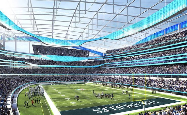 """What happens when two NFL teams come to town? Inglewood is about to find out. The """"City of Champions"""" is on the upswing and faces its next wave of change as the new home to the NFL stadium housing the Rams and the Chargers. Click the link in our bio to find out how the new teams will impact the city's economy."""