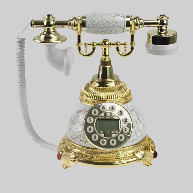 Estilo de la decoración del hogar, estilo de bloque fijo, nuevo estilo, antiguo, tecnología para el hogar, regalos de lujo, teléfono antiguo conjunto