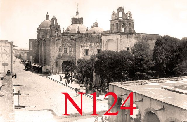 Templo de San Diego, Aguascalientes as it appeared in 1886.