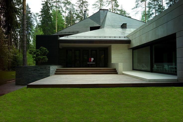 Фото интерьера веранды загородного дома в стиле минимализм