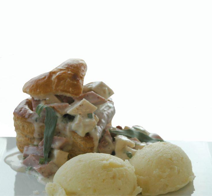 Luxe Breydel-vidé met kalfszwezerik en graantjesmosterd  Recept: http://www.breydel.be/nl/koken-met-breydel/recepten/luxe-breydel-vide-met-kalfszwezerik