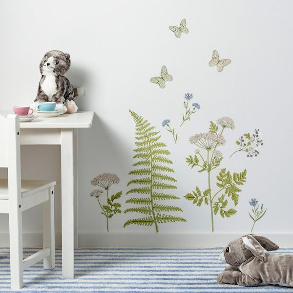 Kinnared Decorative Stickers Fern Flowers Ikea Sticker Decor Wall Stickers Home Decor Decor