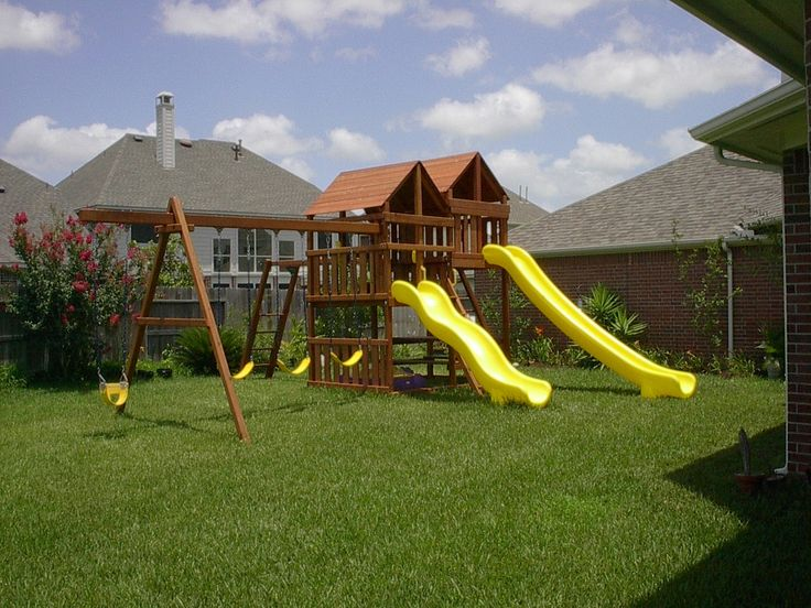 Best 25 swing set plans ideas on pinterest for Wooden swing set plans