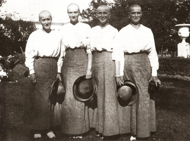 Romanov girls with heads shaven due to a measles outbreak
