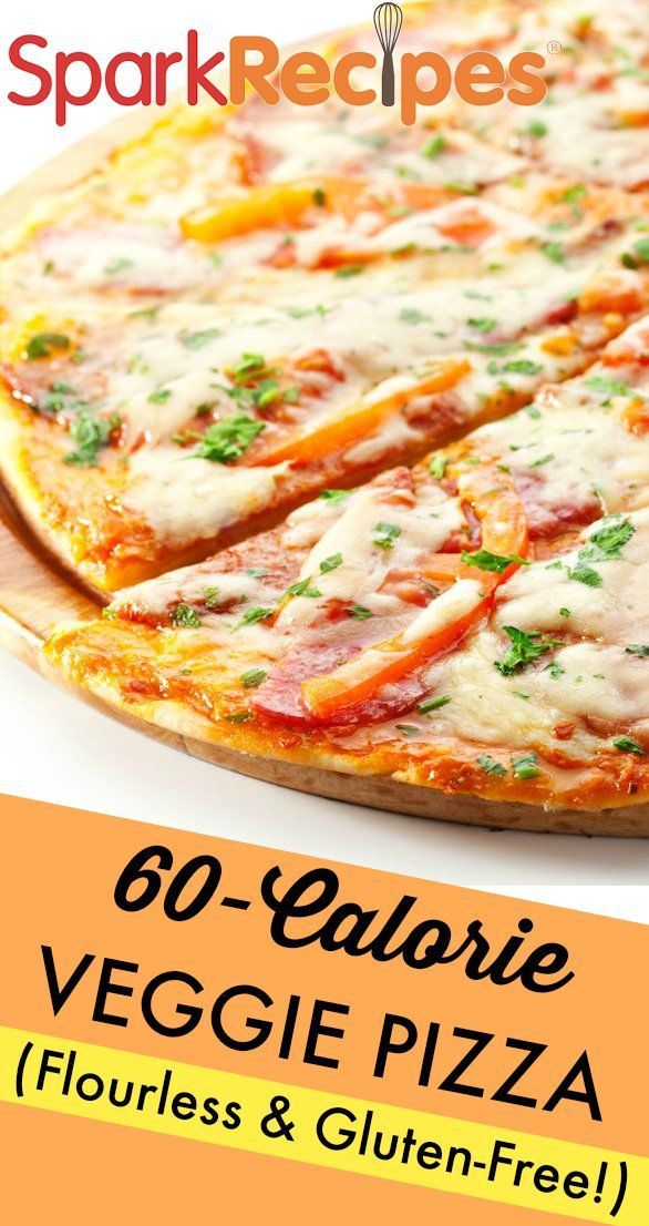 Healthy Veggie Pizza on Flourless Cauliflower Crust. 60 calories per serving. When you're trying to cut calories, pizza seems like a treat you will never enjoy again. But with this cauliflower crust version, you can have pizza anytime you want! Includes demonstration video