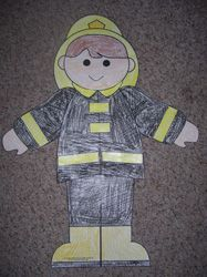 fireman cut and paste activity