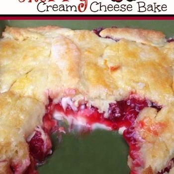 Cherry Cream Cheese Bake Recipe (could use any pie filling or pumpkin). Made with crescent rolls. Easy and delicious!