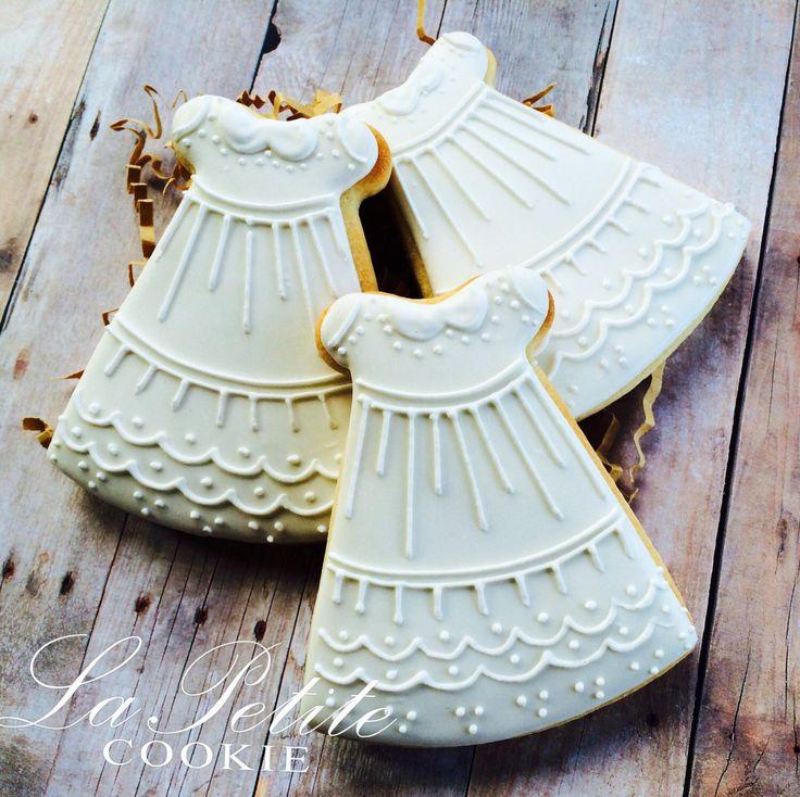 Christening / First Communion Dress sugar cookies (1 Dozen) by LaPetiteCookie on Etsy https://www.etsy.com/listing/175286023/christening-first-communion-dress-sugar