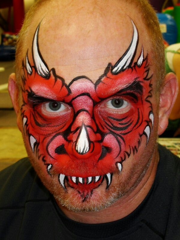 Red Dragon face Mask | Face Painting & Makeup | Pinterest ...