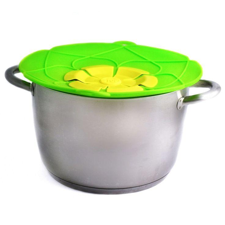 Kokeblomst/kjelelokk som forhindrer alt av søl fra overkoking.