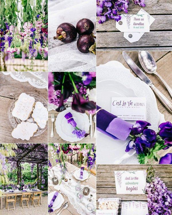 Romantic Wisteria Inspired Wedding Styled Shoot Snapshot | Image by Zwart Fotografie