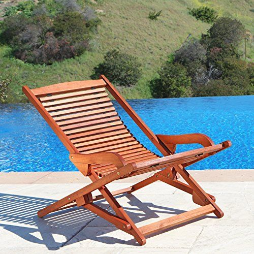 Outdoor Wood Relaxer Zero Gravity Lounge Chair Click Image For More Details