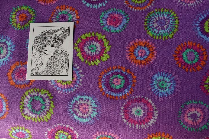 0,5 m x 110 cm S136 Fassett-Rowan Fabrics Spring  von fatto-a-mano auf DaWanda.com