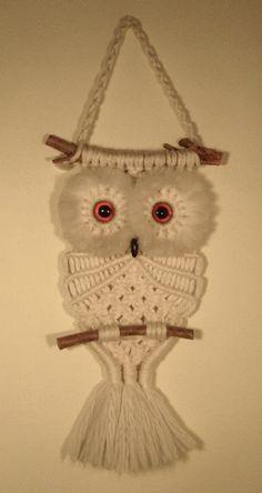 macrame owl | Macramé is having a renaissance. Yay! This means my beloved Macramé ...