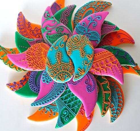Splash of color, touch of tradition, and so very intricate and unique!