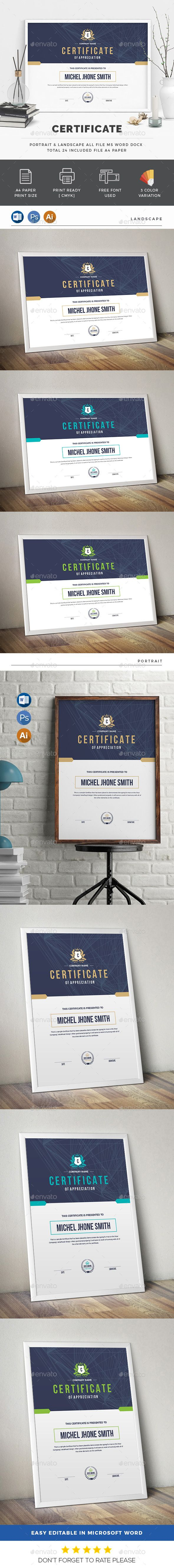 The 25 best certificate design ideas on pinterest certificate certificate by generousart features of certificate template color paper size with bleeds quick and easy to customize templateschange customize eas yelopaper Choice Image