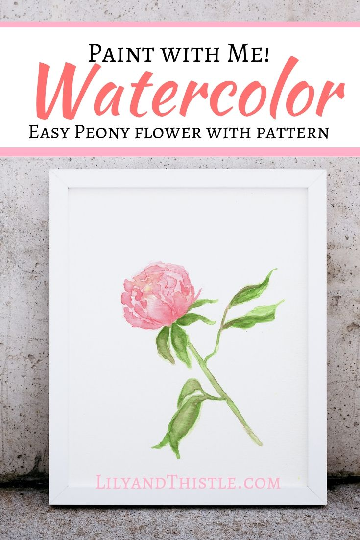 How To Paint A Watercolor Peony Flower For Beginners Watercolor