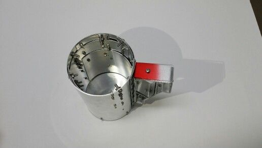 Aluminum Cup-bending/coldjoint/aluminum/acrylic/red