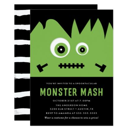 #Monster Mash | Halloween Party Invitation - #Halloween happy halloween #festival #party #holiday