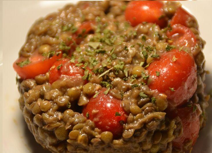 Salade tomates lentilles recette cookeo