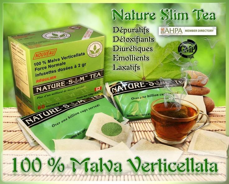 Nature Slim tea 100% Malva Verticellata (2x30 sachets) - Mauve Crépue - Santé Bio Europe