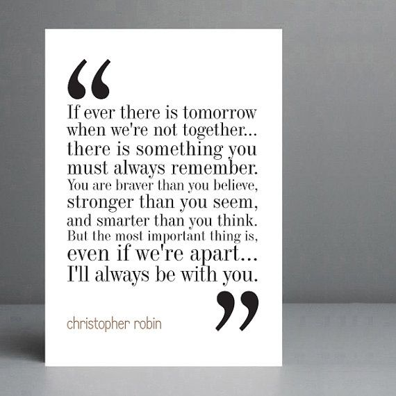 Christopher Robin Quote. Winnie the Pooh. by silvermoonprints