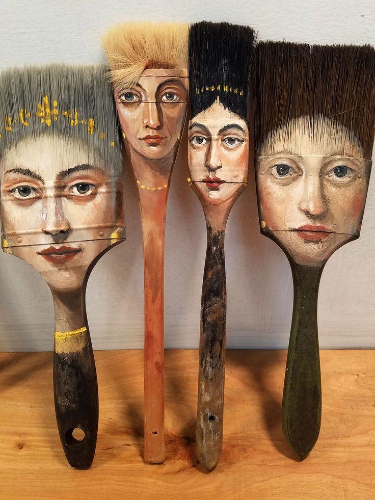 Brush Portrait Giclee Print