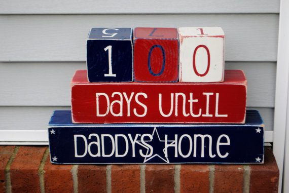 Deployment Countdown Blocks on Etsy, $35.00