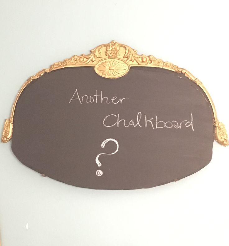 Chalkboard from old broken frame