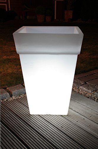 8 seasons design pflanzk bel blumentopf leuchtend shining pot eckig e27 f r led 50cm 35l. Black Bedroom Furniture Sets. Home Design Ideas