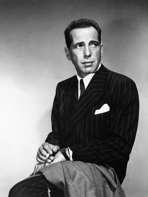 One of the Best Dressed Men of all time: Humphrey Bogart: Because he may not have been as good-looking as Gable or as charming as Tracy, but he had character and strength embodied in his beefy, no-nonsense suits.