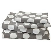 The Land of Nod | New School Kids Sheet Set (Yellow Dot) in Sheet Sets