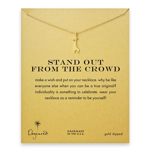 SO ADORABLE. stand out from the crowd reminder necklace with gold dipped giraffe $58