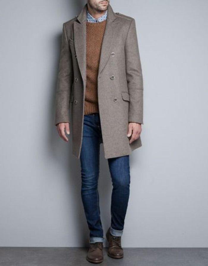 joli manteau beige pour les hommes qui aiment la mode