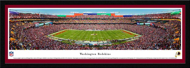 Washington Redskins Panoramic Picture - FedExField Panorama - Select Frame $149.95