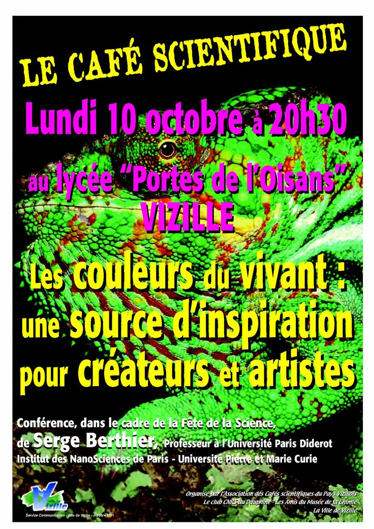 Café scientifique : les couleurs du vivant (10 octobre 2011)