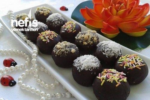 Muzlu Ve Çikolatalı Toplar Tarifi
