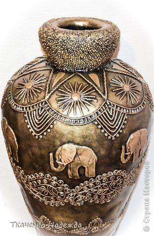 Здравствуйте! Я с новыми вазами. Мой МК по их изготовлению здесь: http://stranamasterov.ru/node/469021 фото 7